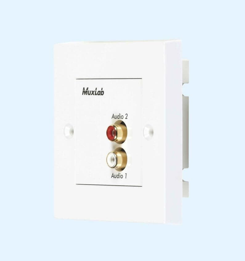 MuxLab In-Wall Stereo HiFi Balun MU 500028 WP-UK